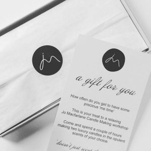 Candle making gift voucher