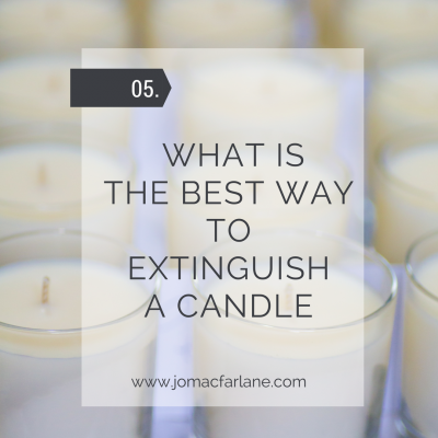 What is the best way to extinguish a candle