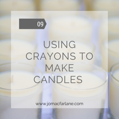 Using crayons to make candles