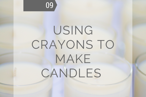 Can I use my child's wax crayons to make candles