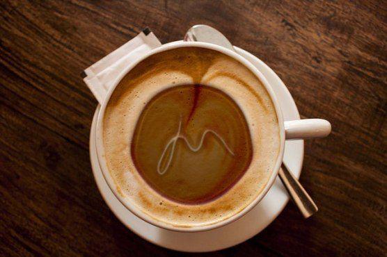 Jo Macfarlane logo on coffee