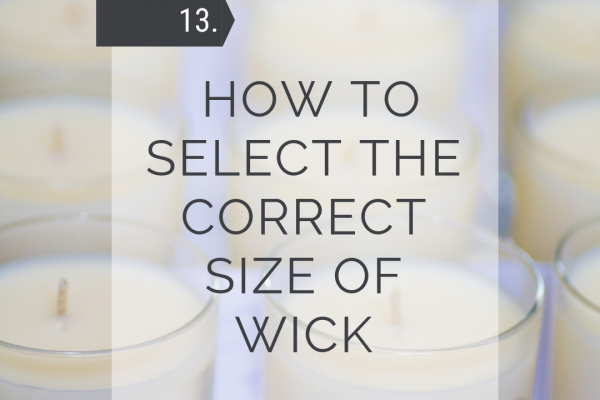 How to select the correct size of wick